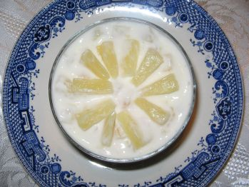 Ananas e yogurt